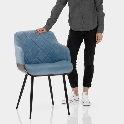 Dakota Dining Chair Blue Velvet Features Image