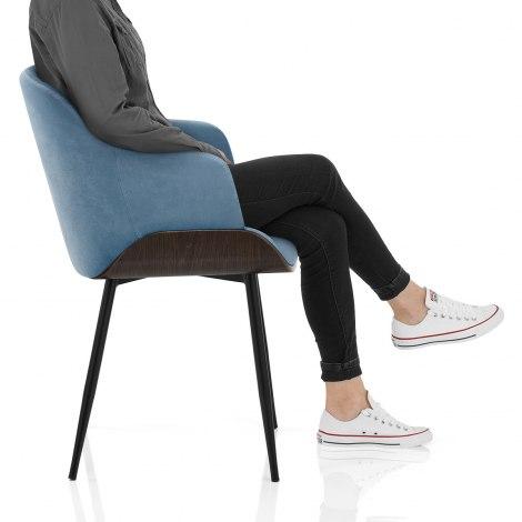 Dakota Dining Chair Blue Velvet Frame Image