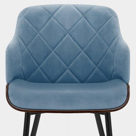 Dakota Dining Chair Blue Velvet Seat Image