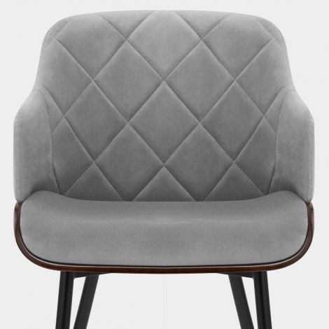 Dakota Dining Chair Grey Velvet Seat Image