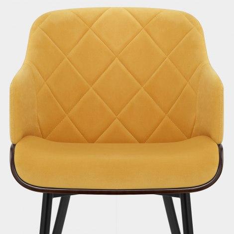 Dakota Dining Chair Mustard Velvet Seat Image