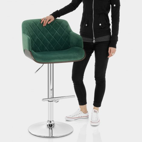 Dakota Bar Stool Green Velvet Features Image