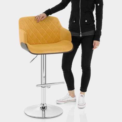 Dakota Bar Stool Mustard Velvet Features Image