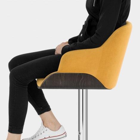Dakota Bar Stool Mustard Velvet Seat Image