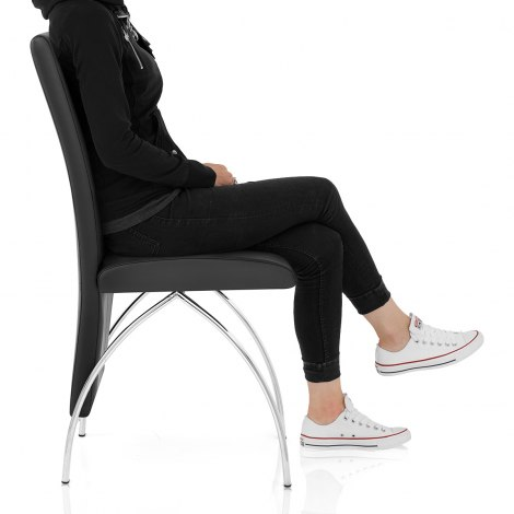 Dali Dining Chair Black Seat Image