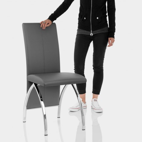 Dali Dining Chair Grey Features Image