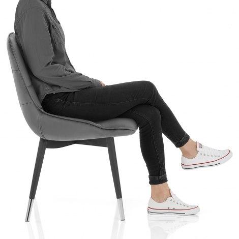 Dallas Dining Chair Grey Velvet Seat Image