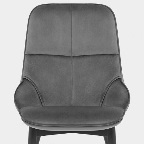 Dallas Dining Chair Grey Velvet Seat Image