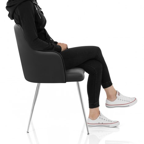 Dawn Dining Chair Black Seat Image