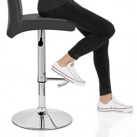 Deluxe High Back Stool Black Seat Image