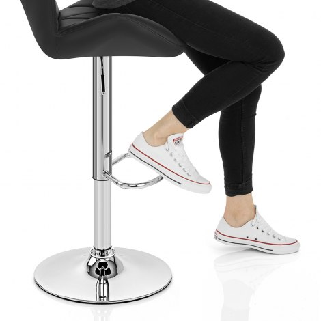 Diamond Bar Stool Black Seat Image