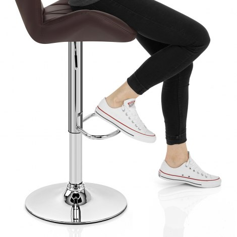 Diamond Bar Stool Brown Seat Image