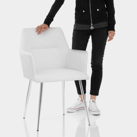 Donovan Dining Chair White Features Image