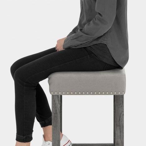 Dove Bar Stool Grey Velvet Seat Image