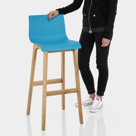 Drift Oak & Blue Bar Stool Features Image