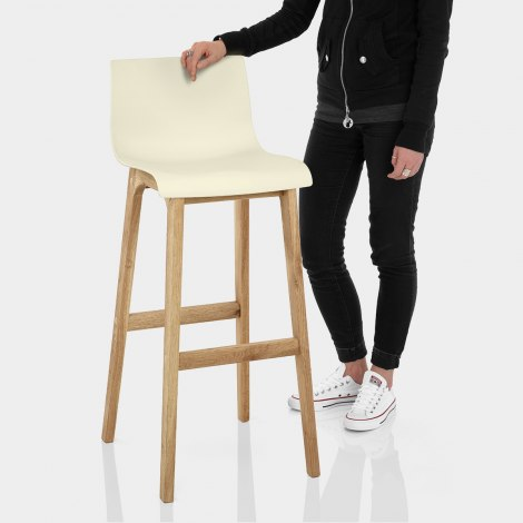 Drift Oak & Cream Bar Stool Features Image