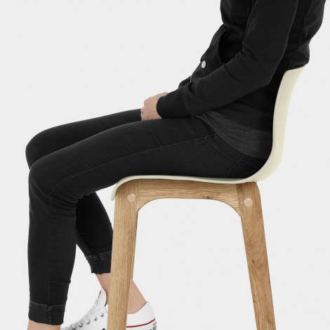 Drift Oak & Cream Bar Stool Seat Image