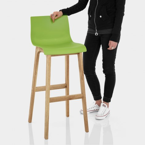 Drift Oak & Green Bar Stool Features Image
