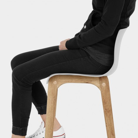Drift Oak & Light Grey Bar Stool Seat Image