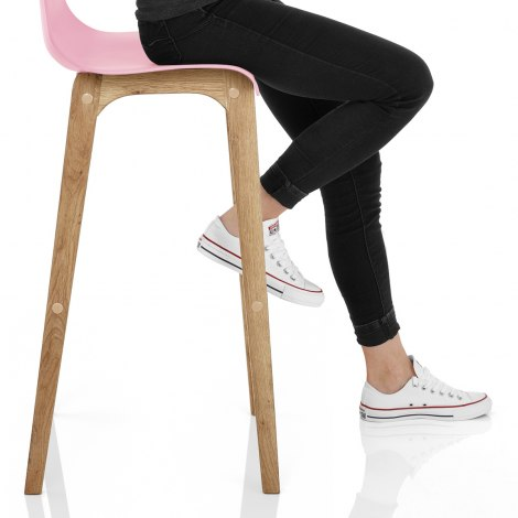 Drift Oak & Pink Bar Stool Seat Image