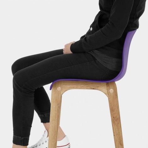 Drift Oak & Purple Bar Stool Seat Image