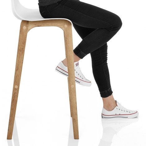 Drift Oak & White Bar Stool Seat Image