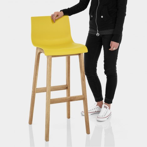 Drift Oak & Yellow Bar Stool Features Image
