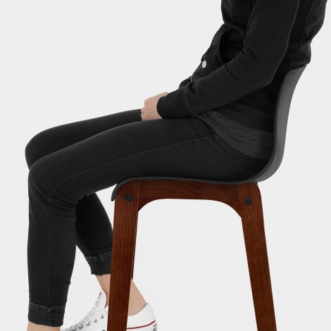 Drift Walnut & Black Bar Stool Seat Image
