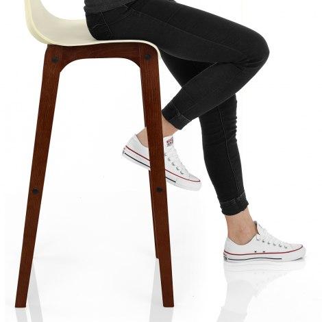 Drift Walnut & Cream Bar Stool Seat Image