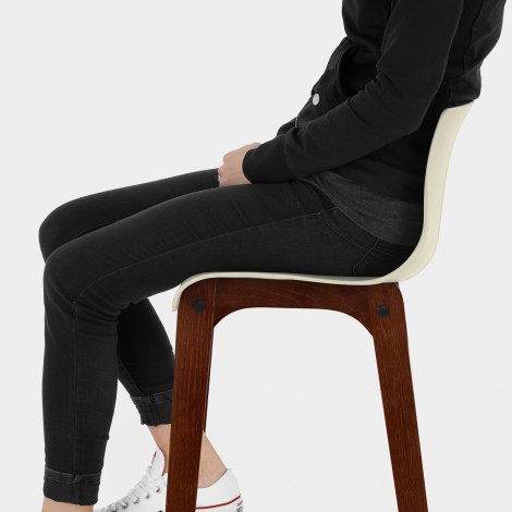 Drift Walnut & Cream Bar Stool Seat Image