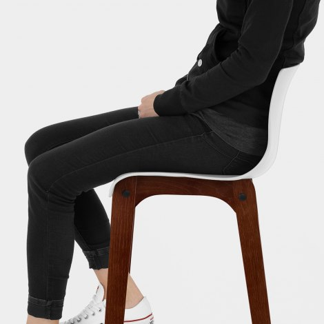 Drift Walnut & White Bar Stool Seat Image