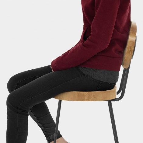 Dual Bar Stool Light Wood Seat Image