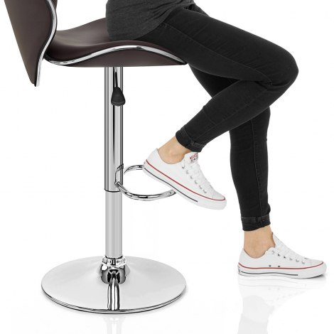 Duo Bar Stool Brown Seat Image