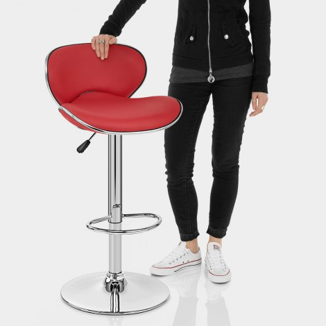 Duo Bar Stool Red Features Image