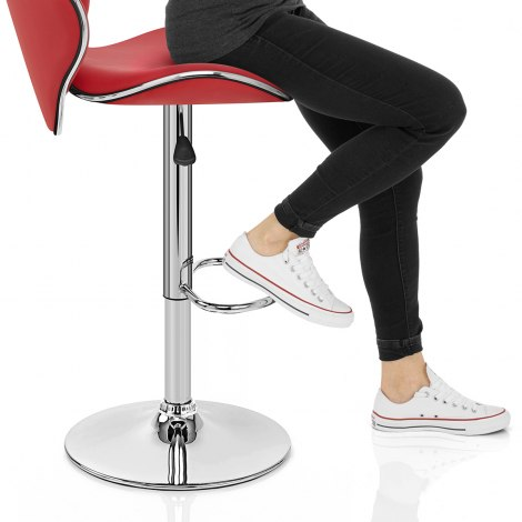 Duo Bar Stool Red Frame Image