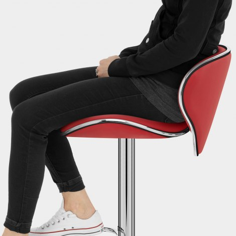 Duo Bar Stool Red Seat Image