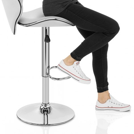 Duo Bar Stool White Seat Image
