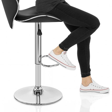 Duo Bar Stool Black Seat Image