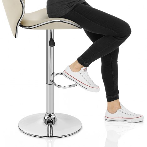 Duo Bar Stool Cream Seat Image