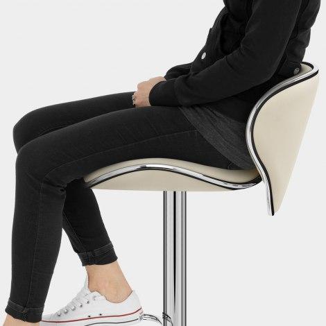Duo Bar Stool Cream Seat Image