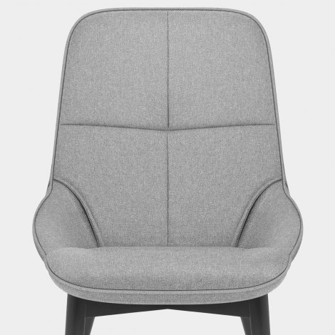 Dynasty Dining Chair Grey Fabric Seat Image