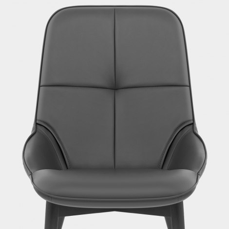Dynasty Dining Chair Grey Leather Seat Image