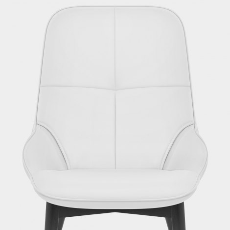 Dynasty Dining Chair White Leather Seat Image