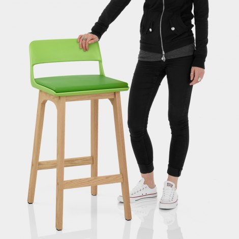 Echo Oak & Lime Green Bar Stool Features Image