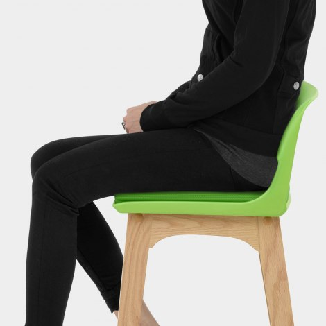 Echo Oak & Lime Green Bar Stool Seat Image