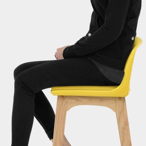 Echo Oak & Yellow Bar Stool Seat Image