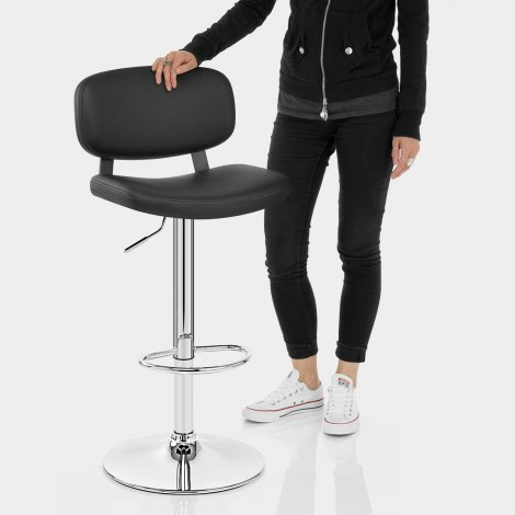 Edge Bar Stool Black Features Image