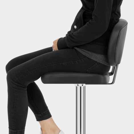 Edge Bar Stool Black Seat Image