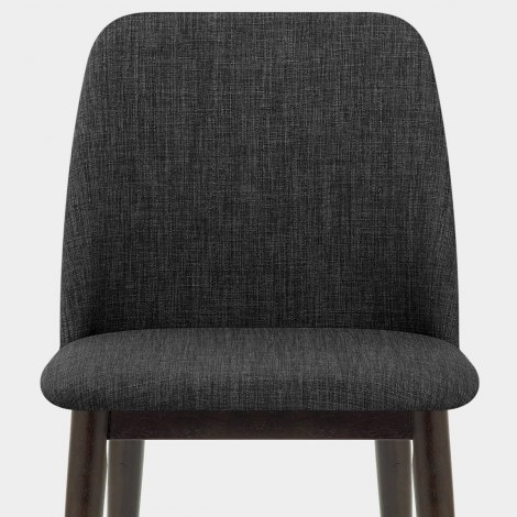 Elwood Walnut Dining Chair Charcoal Fabric Seat Image