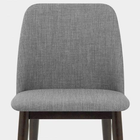 Elwood Walnut Dining Chair Grey Fabric Seat Image